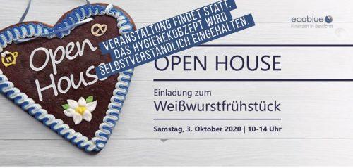OPEN HOUSE: Herzliche Einladung zum Weißwurstfrühstück am 3.10.2020